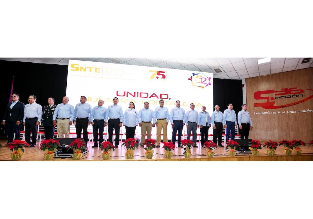 En unidad, la Sección 36 del SNTE celebra su 52 Aniversario
