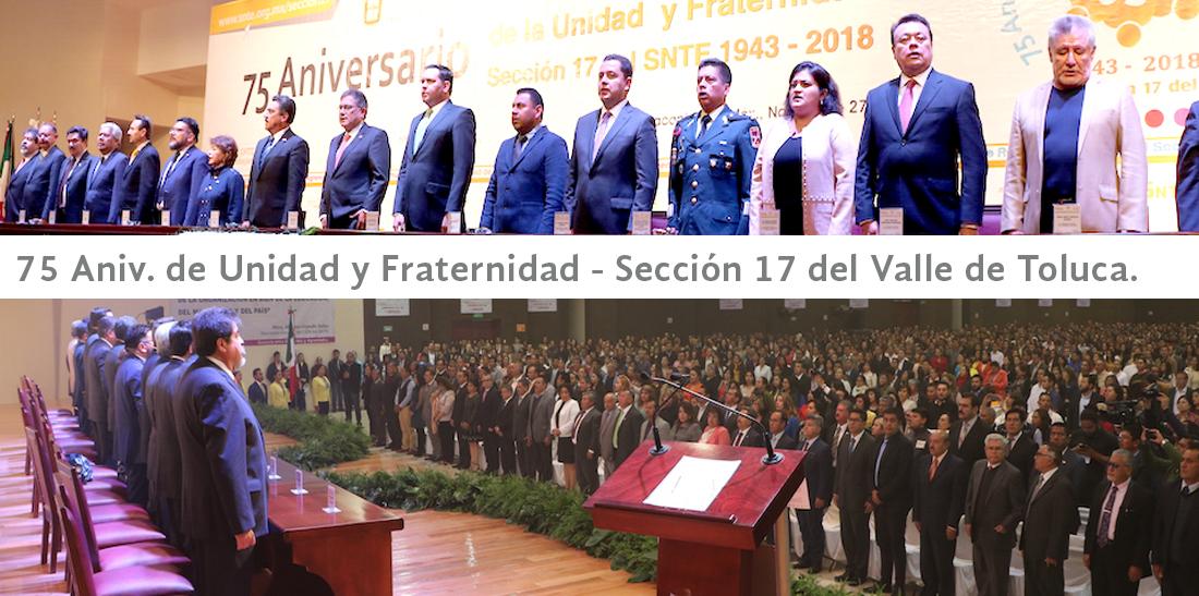 Sección 17 celebra en unidad y fraternidad