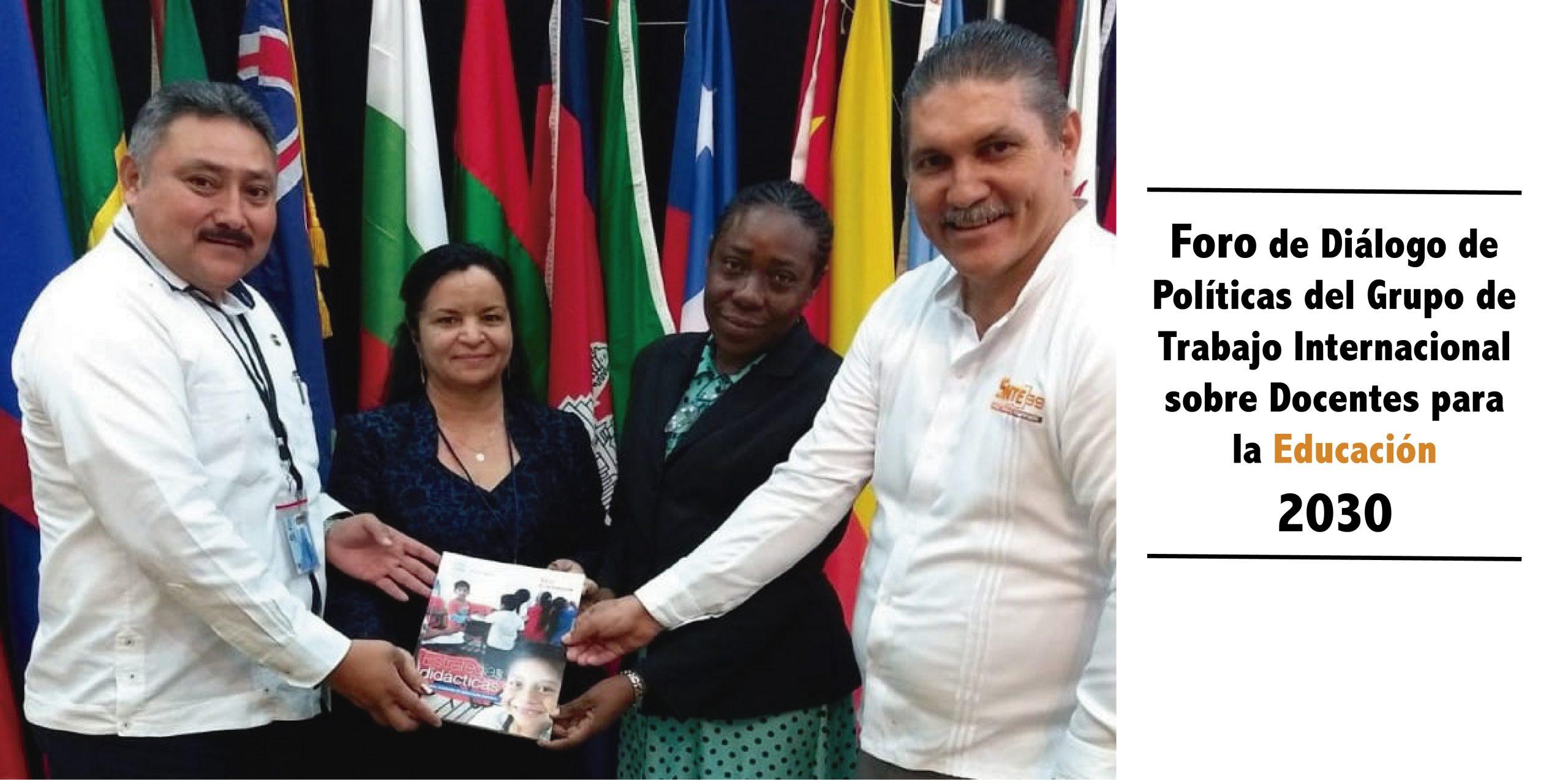 SNTE lleva a foro mundial sus acciones para la profesionalización docente