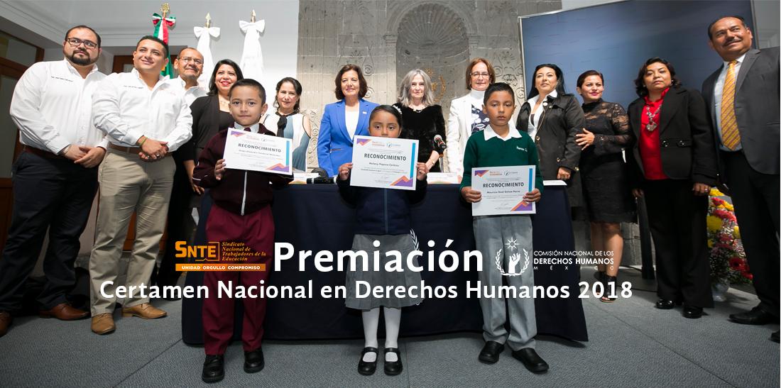 SNTE y CNDH reconocen compromiso de maestros y alumnos con los derechos humanos