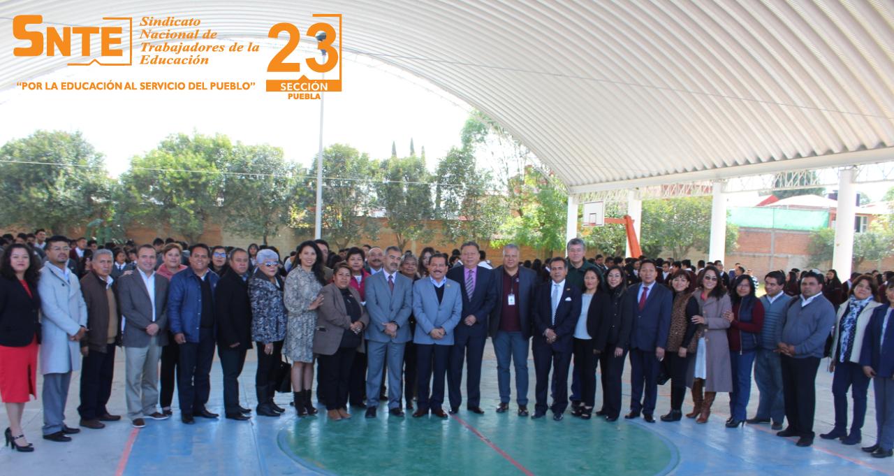 Dirigente de la Sección 23 resalta compromiso con jóvenes de CETIs 67 al iniciar semestre