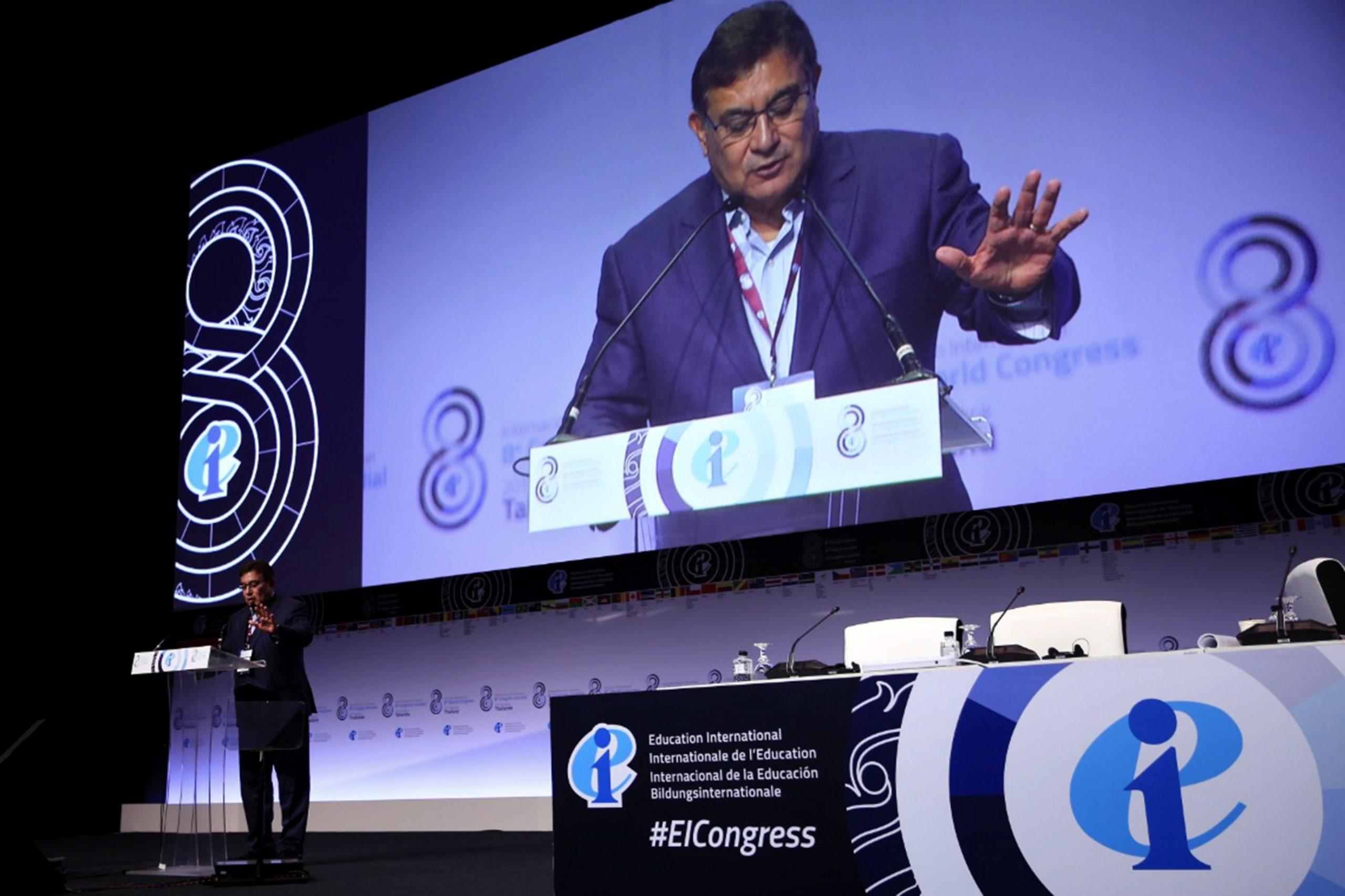 Líder nacional del SNTE es electo miembro del Consejo Ejecutivo de la Internacional de la Educación
