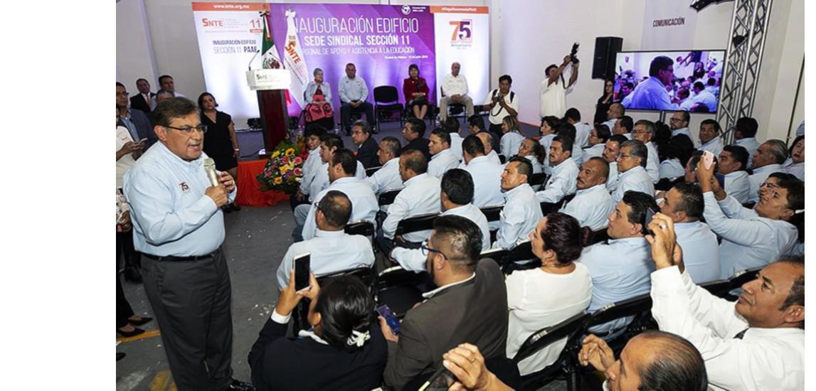 El SNTE rinde homenaje al Personal de Apoyo  y Asistencia a la Educación