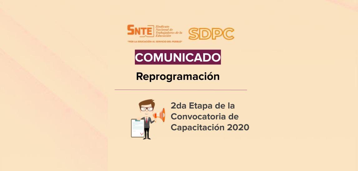 Comunicado: 2da Etapa de la Convocatoria de Capacitación 2020