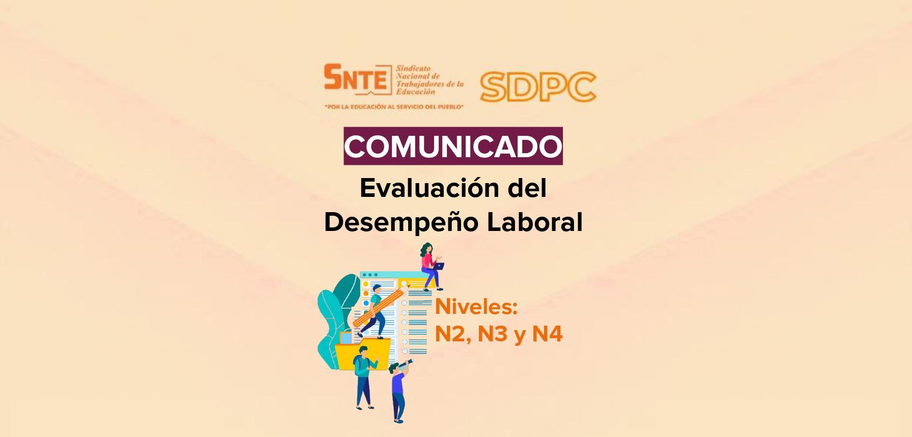 Comunicado Evaluación del Desempeño Laboral Niveles N2, N3, N4 del SDPC 2020