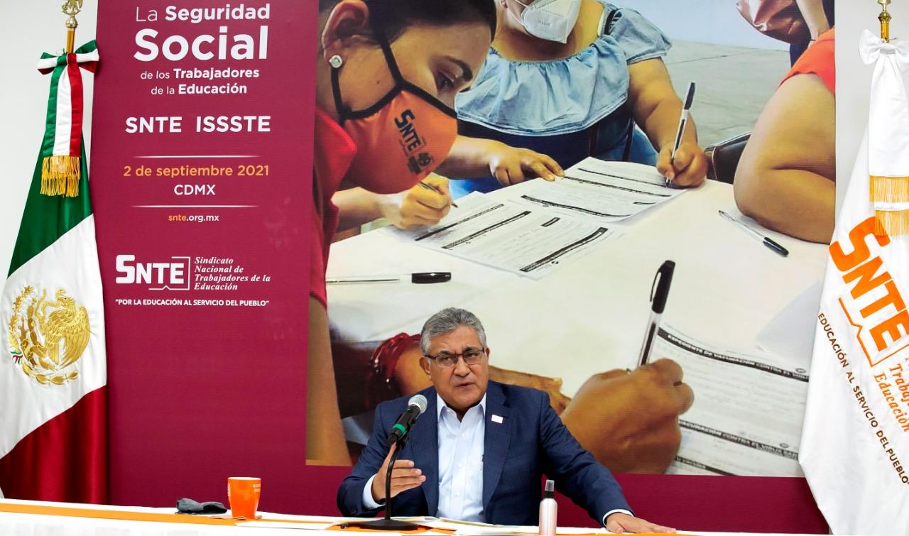 Los trabajadores de la educación tienen garantizada su seguridad social y laboral frente a la pandemia: SNTE