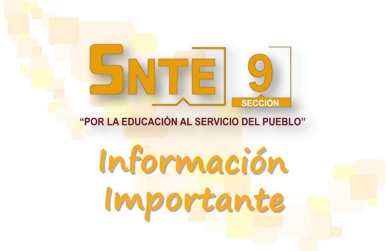 Asignación de becas para hija o hijo de maestras y maestros de la Sección 9