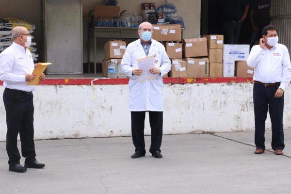 Sección 21 del SNTE participa en la entrega simultánea de materiales e insumos médicos al ISSSTE00004