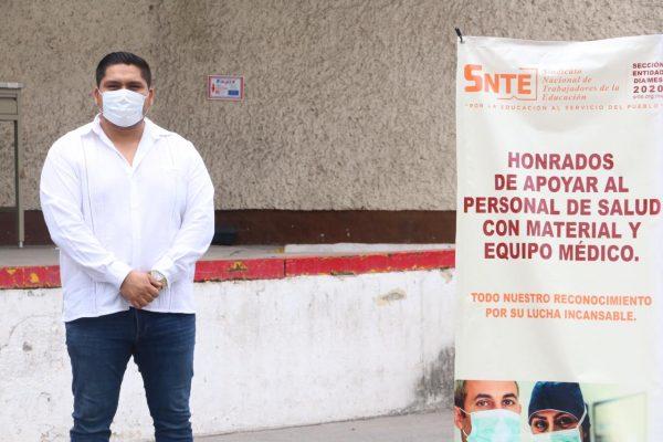 Sección 21 del SNTE participa en la entrega simultánea de materiales e insumos médicos al ISSSTE00006