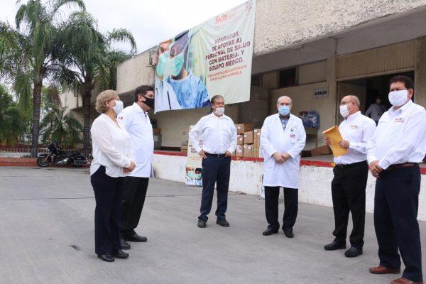 Sección 21 del SNTE participa en la entrega simultánea de materiales e insumos médicos al ISSSTE00020