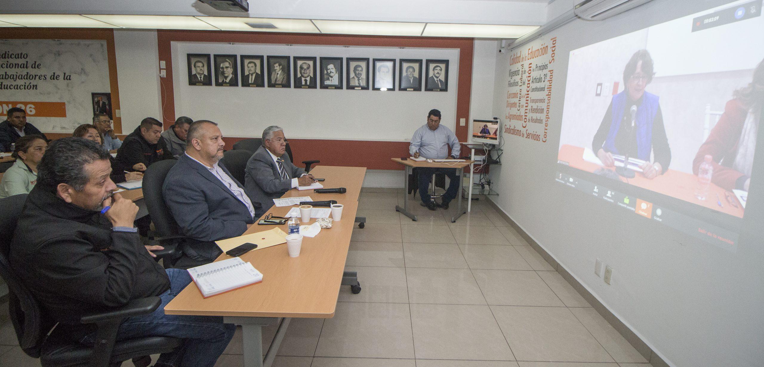 Comité Ejecutivo Sección 26 participa en videoconferencia Nacional