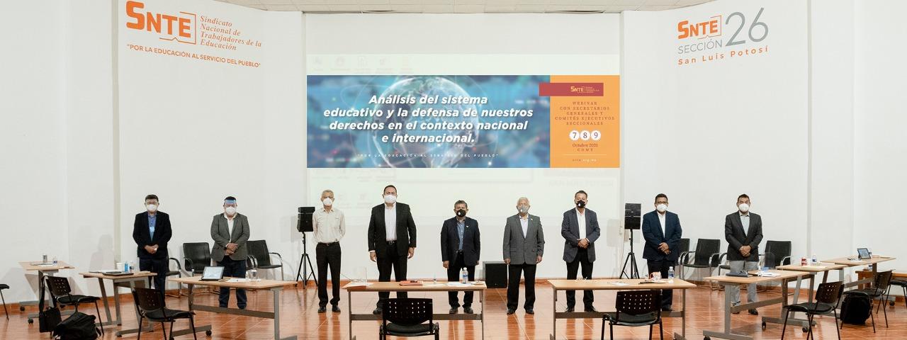 Participa la Sección 26 en webinario presidido por el Maestro Alfonso Cepeda Salas