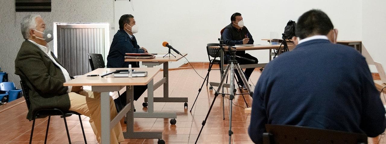 Delegado Especial concluye semana de reuniones virtuales con Órganos de Gobierno y Secretarías de la Sección 26