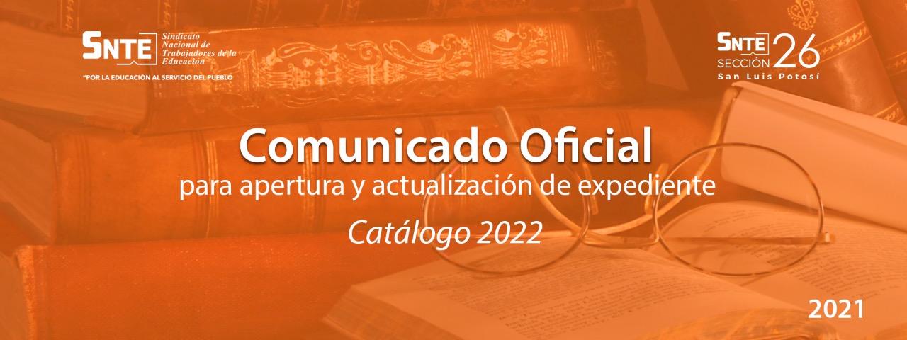 Comunicado Oficial para apertura y actualización de expediente.