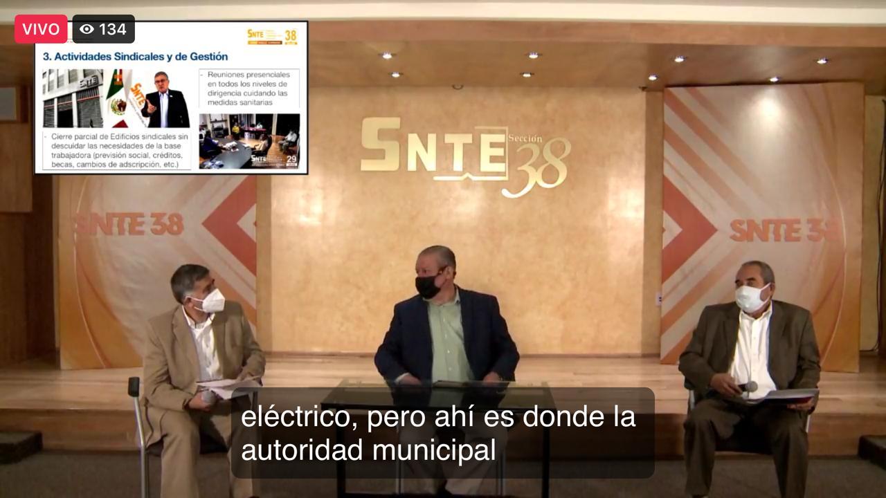 Sección 38 presenta la platica: El rol del SNTE en los tiempos de pandemia, por el Prof. Alfredo Zmery de Alba