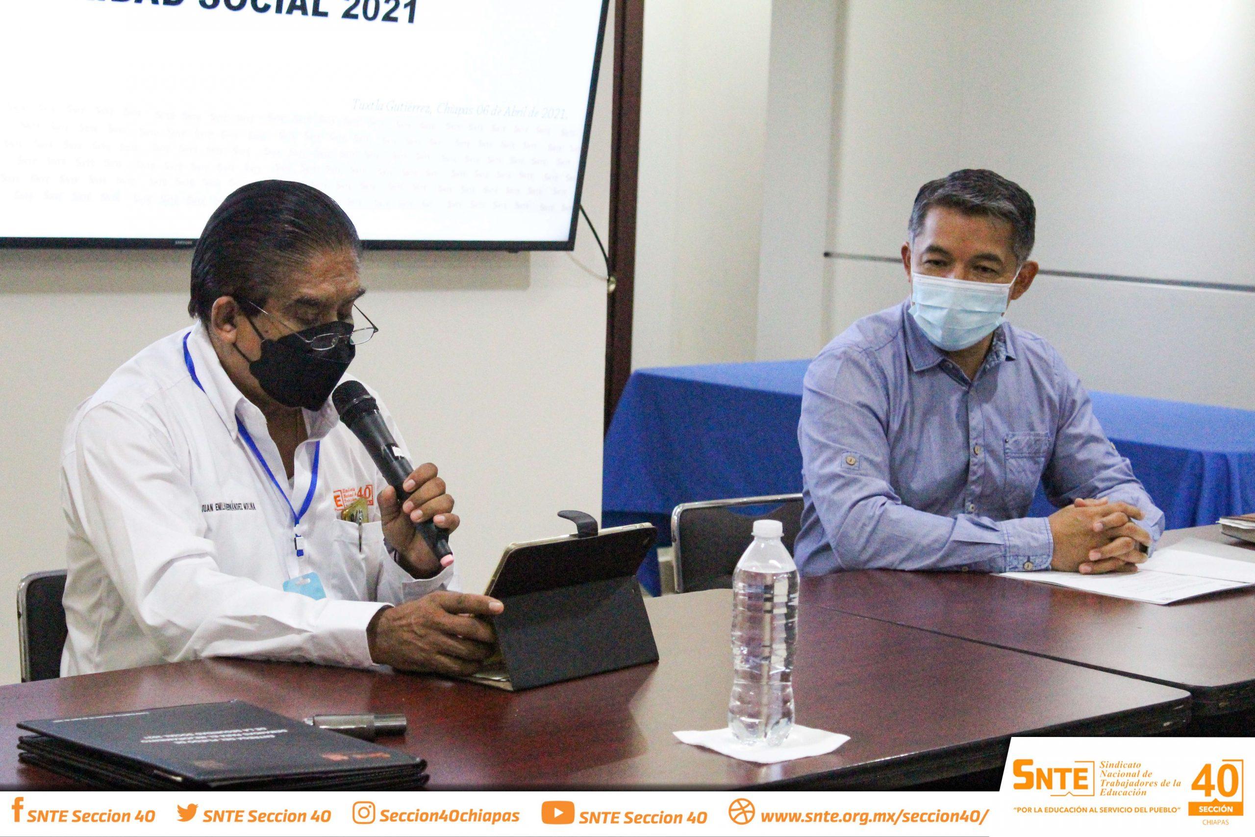 Sección 40 entrega al ISSTECH su Pliego Nacional de Demandas 2021 en materia de Seguridad Social