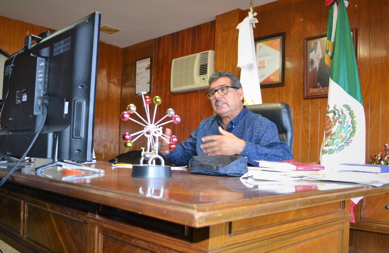 Sostiene el profesor Mario Hernández Sánchez reunión virtual con secretarios delegacionales y representantes de CT de Poza Rica y Martínez de la Torre