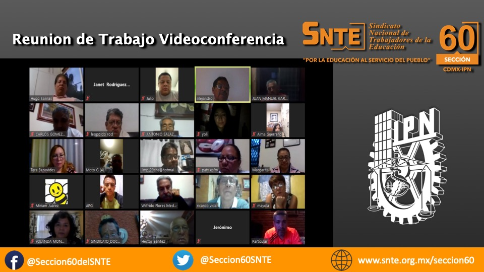REUNIÓN DE TRABAJO, POR MEDIO DE VIDEOCONFERENCIA: SECCION 60
