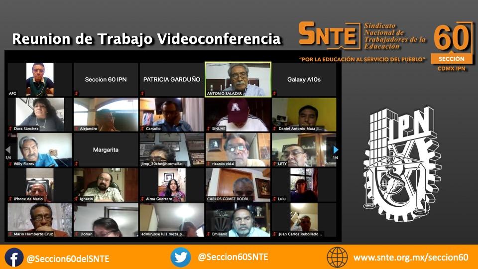 Videoconferencia de Trabajo en la Sección 60