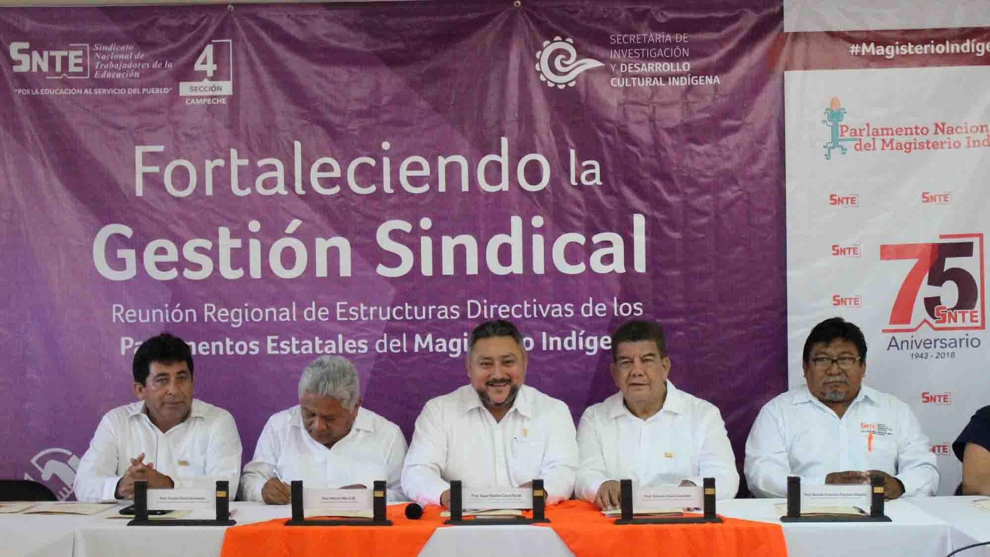 'Tercera Reunión Regional de Estructuras Directivas de los Parlamentos Estatales del Magisterio Indígena'.