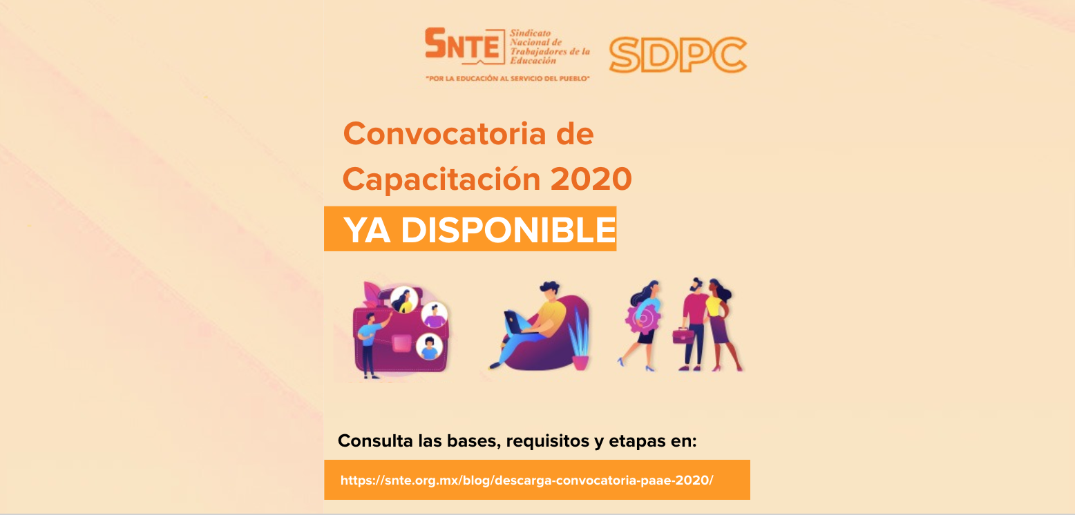 Descarga la convocatoria capacitación 2020
